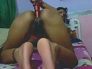 beautiful latina destroys her ass