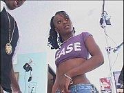 Small tits ebony teen takes on a big black cock