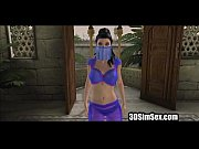 3d girl in arabia gets bound.