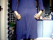 HPIM8941.MPG I, in blue nightgown and stockings