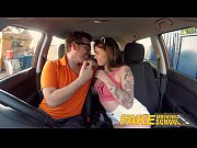 Fake Driving School Spanish kitty cat rides cock