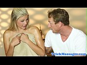 Massage loving beauty orally pleases masseur