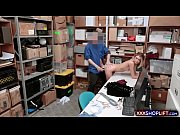Blonde shoplifter gets punish fucked in the office