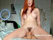 thumb lustful unshaven redhead slut dildo fucks her poontang   angelsluts com