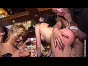 Slave anal fucked in public bar