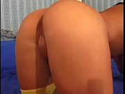 Hot brunette takes big cock up her ass