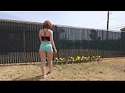 cams4free.net - big butt redhead outside.