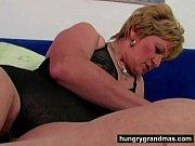 Horny grandma and her big dildo