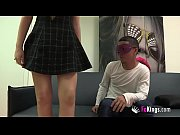 Young hot couple nervous in first scene