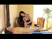 Busty massage milf rides hard cock