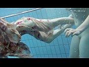 Two hot hairy beauties underwater