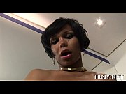 young tranny swallows knob