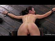 Brunette submitted in different bondage devices