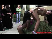 Bigbooty lesbo orally pleasured at hazing