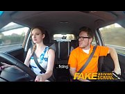 fake driving school pink nipples big tits redhead.