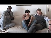 Pia Sofie&#039_s first black cock while her cuckold is watching