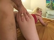 Page Morgan licks lollipop while fucked