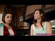 Lesbo models pussyeating in kitchen