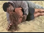 Big King Kong Negro Kissing Slim Lady on the Beach