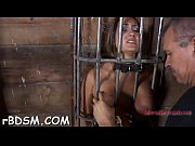tied up chick&#039_s hot cum-hole is being tortured viciously