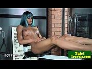 Ebony ts pornstar plays with her tight ass