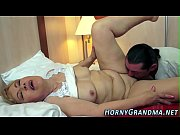 Busty old lady creamed