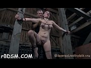 Bounded girl receives hardcore satisfying on her clits