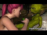 Foxy 3D redhead sucking on Yoda rock hard cockof-high 2