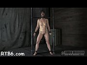 Gagged angel receives furious whipping on her tits
