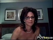 Busty MILF Strips And Teases Her Pusy