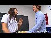 Schoolgirl picking on her prof
