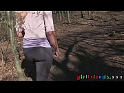 Girlfriends eat pussy and make a sextape in the woods