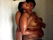 horny african sistas share the shower in this.