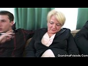 Two friends pick up and fuck boozed granny
