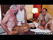 Petite Latina Nikki Kay gets gangbanged by three old perverts