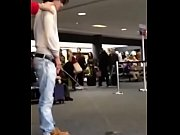 Actor Bronson Pelletier drunk peeing in airport
