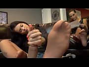 babysitter giving a footjob/handjob to owner.