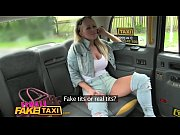 female fake taxi steamy lesbian pussy licking action.