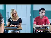 thumb Busty Milf Teac her Gets With Teen Couple In H een Couple In Her Classroom