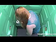 Cum Lover gets paid for sucking dick in a porta potty gloryhole.