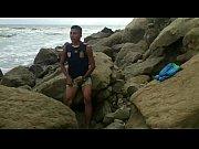 【ウホ】ゲイカップル二人で一緒に海岸オナニー撮影♂【HD/無】