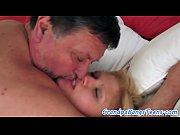 Sweet european teen gets creampied by grandpa