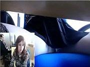 www.x-freecams.com Beautiful Girl Masturbating in Office Webcam