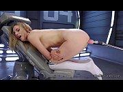 Hot ass blonde fucks machine doggy
