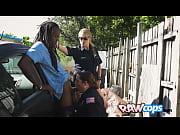 BBW cops enjoying a raw fuck outdoors
