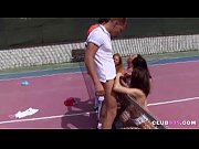 Four Sluts Fucked on Tennis Court
