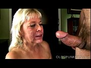 Super sexy old spunker gives an amazing sloppy blowjob