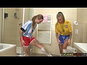 Two Young and beautiful teens fuck their friend after the world cup