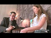 Kissable schoolgirl was seduced and pounded by her older teacher
