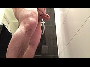 Chubby cumshot in the shower